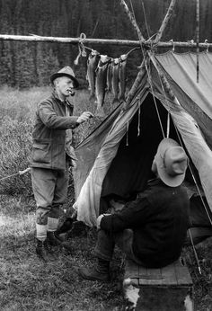 +~+~ Vintage Photograph ~+~+  Days worth of fishing ~ Jacques Lake, Alberta