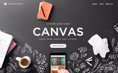 Create Your Own Canvas -Squarespace, amazing website hosting company! Fantastic design accompanied with great customer service! Website Design, Website Layout, Website Themes, Website Ideas, Marketing Online, Marketing Digital, Branding, Create Your Own Canvas, Ui Design Inspiration