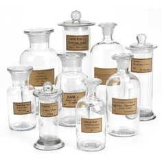 Botany Apothecary 9 Piece Decorative Jars Set