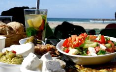 Beachside breakfast in Tel Aviv.