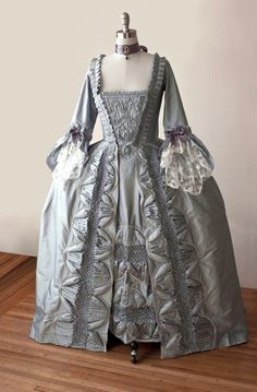 Marie Antoinette Style Robe a la Francais. Perfect for themed wedding or masquerade ball!  rachelkerby.com