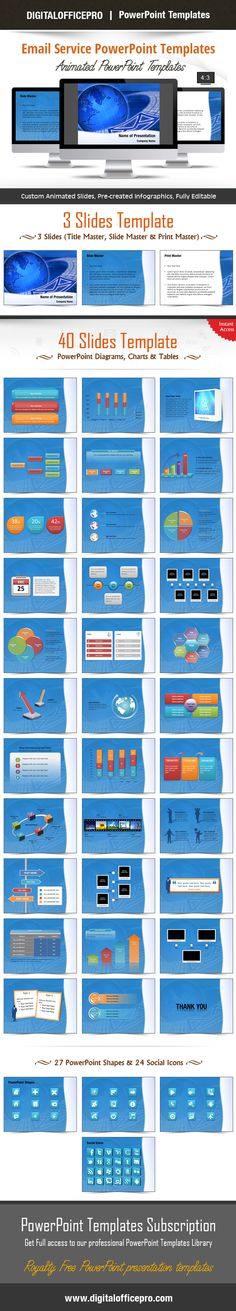 Impress and Engage your audience with Email Service PowerPoint Template and Email Service PowerPoint Backgrounds from DigitalOfficePro. Each template comes with a set of PowerPoint Diagrams, Charts & Shapes and are available for instant download.