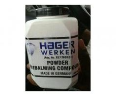UCT Johannesburg, Hot Hager Werken Embalming Compound Pink Powder For SaleGerman Produced Hager Werken Embalming Compound Pin.