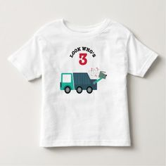 3rd Birthday Garbage Truck Party Shirt - tap, personalize, buy right now!