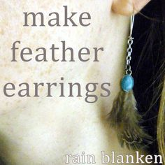 Feather earring tutorial to make your own handmade feather earrings. Fluffy!