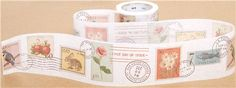 wide mt Washi Masking Tape deco tape with stamps 2 Mt Washi Tape, Mt Tape, Washi Tape Crafts, Masking Tape, Scrapbook Supplies, Scrapbooking, Crafts For Kids, Arts And Crafts, Modes4u