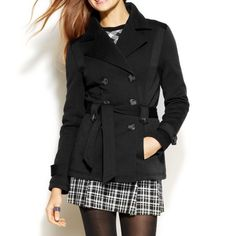 Black Fleece Trench Coat New with tags! Cotton & polyester, lined! Jackets & Coats