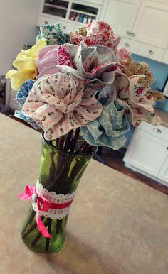 long stemmed fabric roses