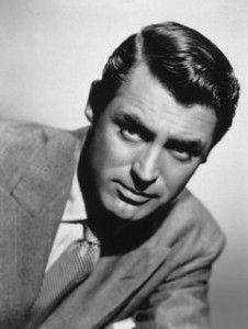 Cary Grant, b. Archibald Leach. It was director Howard Hawks who suggested that Grant part his hair on the opposite side to which he had, up until then worn the part.