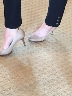 Awesome pair of nude heels from Nine West Outlet