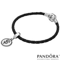 San Francisco Giants Sterling Silver Charm and Leather Bracelet by Pandora - MLB.com Shop