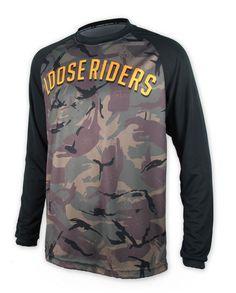 Loose Riders Herren SENDER CAMO Jerseys Langarm.Sportwear,Bike,Radsport Style