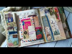 The Book of Pockets Junk Journal Journal Covers, Art Journal Pages, Journal Ideas Smash Book, Notebook Covers, Bujo, Fabric Journals, Art Journals, Bookbinding Tutorial, Altered Book Art