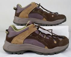 VASQUE hiking shoes Brown SUEDE Boy YOUTH 6 Medium Excellent  Used #Vasque #HikingTrailShoes