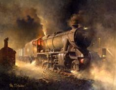 Philip D Hawkins online art gallery. Classic British railway scenes captured on canvas by this world renowed painter of trains and railway subjects.