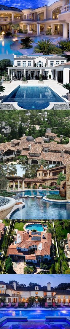 54 Stunning Dream Homes Mega Mansions From Social Media - Luxury Interior Dream Home Design, Home Design Plans, My Dream Home, House Design, Luxury Homes Dream Houses, Dream Homes, Mega Mansions, Luxury Mansions, Dream Mansion