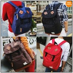Kimura Schoolbag High School Students Backpack Backpacks Men And ...