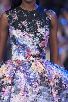 Romantic Artful Flora & Dark Romance | Elie Saab Spring 2014 #hc #fashion #details