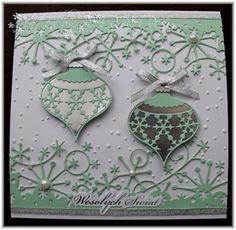 Memory Box Snowflake ornament + cards - Google Search