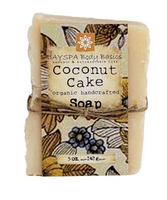 Inspired by the love of coconut and a family member's coconut wedding cake, this soap is sure to please all coconut lovers! Made with coconut milk, coconut oil, and shredded organic coconut flakes.I