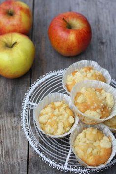 HerzStück: Apfel-Streusel-Muffins, apple crumble muffins