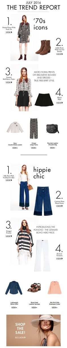 MAX&Co. The Trend Report - July 2016 - '70s icons and hippie chic. Shop at maxandco.com