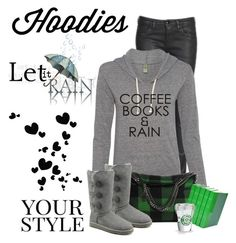 """""""Coffee Books And Rain"""" by jessicarabbit59 ❤ liked on Polyvore featuring ESPRIT, STELLA McCARTNEY, UGG Australia, Pussycat, women's clothing, women's fashion, women, female, woman and misses"""