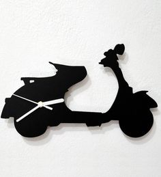 Silhouette Vespa Scooter Wall Clock by Silhouette Online ...