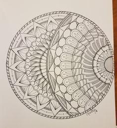 Very Big Sketchbook – Page 3, A Mandala Eclipse   CraftyArtistKc
