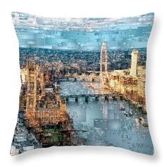 Throw Pillow - River Thames In London, England