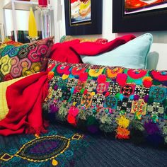Becoming Boho - our Boho Chic pieces are arriving at Lemonceillo Home! Come in and experience these sensational textures and colours!