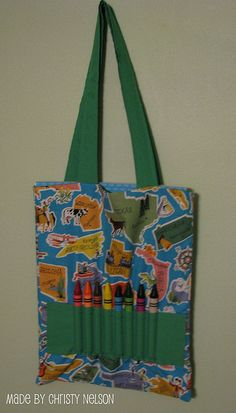 Coloring Book and Crayon Tote Bag Tutorial by christynelson.net, via Flickr