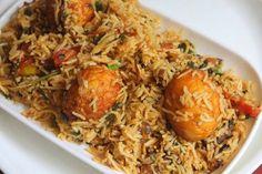 YUMMY TUMMY: Street Food Style Egg Biryani Recipe - Thattukada Muttai Biryani Recipe