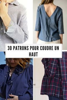30 patrons pour coudre un haut / Sewing Patterns