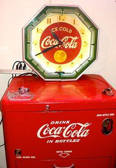 Coca-Cola Vintage Clock & Cooler