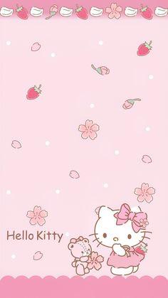 Hello Kitty Themes, Pink Hello Kitty, Sanrio Hello Kitty, Sanrio Wallpaper, Pink Wallpaper Iphone, Kawaii Wallpaper, Unicorn Wallpaper Cute, Hello Kitty Wallpaper, Hello Kitty Pictures