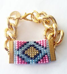 ♥ New limited edition Worship collection from Shh By Sadie ♥    A carefully hand woven beaded emblem accentuated with chunky gold chain. Perfect for