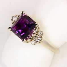 amethyst rings white gold