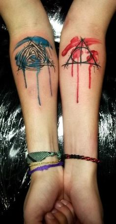 Loving the paint drip effect. #tattoo Ohh I love this_ I would def do a harry potter & charmed combo