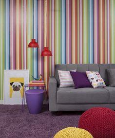 A combinação de cores pode ser a escolha chave para deixar a decor super moderna e cheio de vida -- basta ousar um pouquinho! ;) Produtos: - Papel de Parede Autocolante Rolo 060 x 5M - Listrado 1521; - Pendente Vivid Light Pop Vermelho 1x25W E27 Bivolt;  #MoblyBr #Mobly #producaomobly #decoracaodeinteriores #inspiration #home #homesweethome #casaedecoracao #decorar #arquiteturadeinteriores #arquitetura #decor #decor #color
