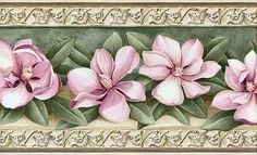 BENİM MARİFETLERİM Art Vintage, Decoupage Vintage, Decoupage Paper, Borders For Paper, Borders And Frames, Floral Border, Baby Prints, Flower Wallpaper, Vintage Flowers