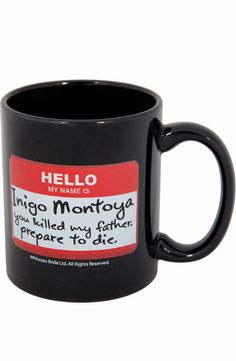 Princess Bride Name Tag Mug