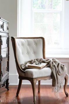 Reupholstering an Antique Chair Farmhouse Furniture