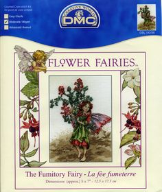 Cross stitch - fairies: Fumitory fairy - Cicely Mary Barker (free pattern with chart)