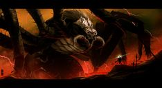 Ungoliant e Melkor -- Arte por rubendevela