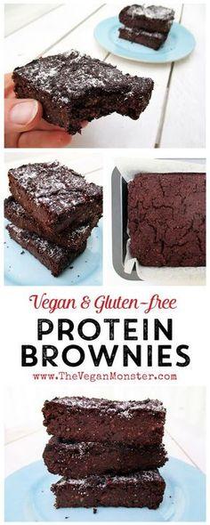 Vegan Gluten-free Protein Brownies mit linsen