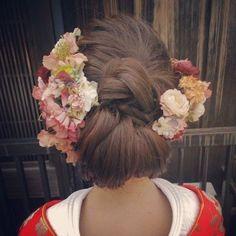 髪飾りをたっぷり♪