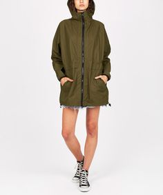OVERSIZED SPRAY JACKET KHAKI | Jackets | Clothing | Shop Womens | General Pants Online