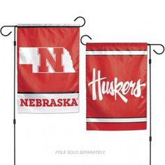 Nebraska Cornhuskers Flag 12x18 Garden Style 2 Sided #NebraskaHuskers