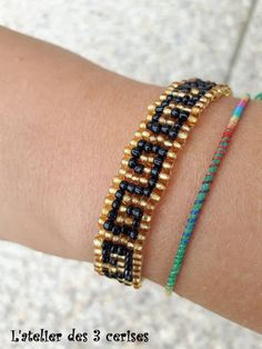 Best string for friendship bracelets: Boho Goddess Bracelet. Tigers Eye and Turquoise power Miyuki Bracelet Delica. Diamond Friendship Bracelet, Friendship Bracelet Patterns, Seed Bead Bracelets, Loom Bracelets, Stretch Bracelets, Loom Beading, Beading Patterns, Pandora Beads, Tear